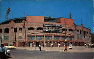 Chicago White Sox Baseball Stadium Comiskey Park c1950s Postcard