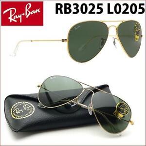 SONNENBRILLE RAY BAN GOLD 3025 L0205 AVIATOR 58mm NEU und OVP