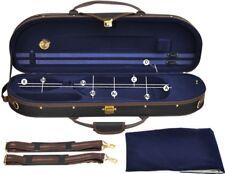 Steinbach 4/4 Geigenkoffer sportliches Design dunkelblau mit Rucksackriemen