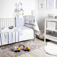 Baby COT 4 piece BEDDING SET QUILT, BUMPER, BLANKET & TOY BEAR-In the night Sky