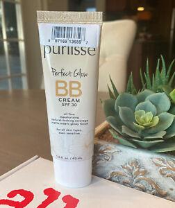 Purlisse Perfect Glow BB Cream SPF30 In TAN Full Size 1.4oz, 40ml New w/o Box