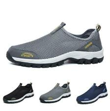 Men Casual Shoes Mesh Sports Trail Sneakers Loafers Athletic Slip On Breathable