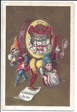 Beautifully Colored Trade Card Leichner Theatrical Perfumery, Powder, Centennial