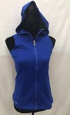 Lauren Ralph Lauren Blue Full Zip Sleeveless Hoodie Women XXS NEW