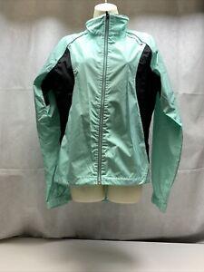 Endura Women's Jacket Teal Cycling L Bike Lightweight Windproof Activewear KG
