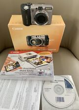 Canon PowerShot A650 IS 12.1MP Digital Camera with Box, Manuals, Cables