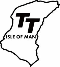 Isle Of Man TT Vinyl Decal Sticker for Car/Window/Wall