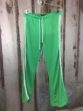 DH DEREK HEART Athletic Pants Women Sz. XL Green White Stripes Workout EUC