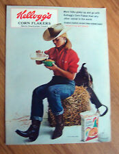 1965 Kellogg's Corn Flakes Ad  Cowgirl    Giddy-up and Go