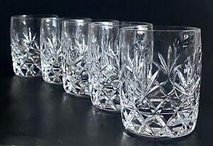 "Set of 5 Lenox CHARLESTON 4"" Crystal Double Old Fashioned Glasses tumbler"