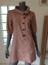 Cotton Blend Collared Tunic Dresses for Women