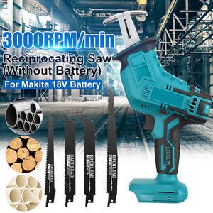Akku 3000rpm Elektrische Säbelsäge Für Makita 18V Mit 4Sägeblätter Ohne Batterie