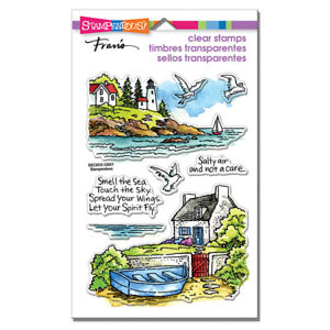 LIGHTHOUSE COTTAGE & Sayings CLEAR Rubber Stamp Set STAMPENDOUS SSC2033 New