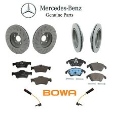 Mercedes W212 E350 E400 Front & Rear Brake Rotors with Pads and Sensors Genuine