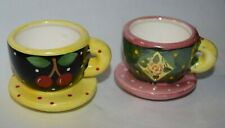2 Mary Engelbreit teacups with attached saucers