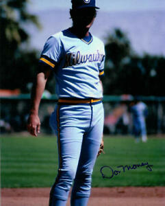 1982 Don Money Milwaukee Brewers signed photo 8x10 AUTO Autographed