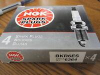 NGK BKR6ES Spark Plugs Pack of 4 New