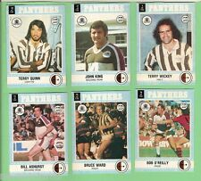 1977 SCANLENS RUGBY LEAGUE TEAM CARDS  -  PENRITH PANTHERS