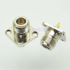 1pce Connector N female jack 4-hole 25.4mm flange solder panel mount straight