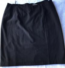 Autograph Womens Knee Length Skirt Pencil Straight Lined Work Career Black 14