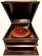 antigua gramola de mueble COLUMBIA grafonola 1929 FUNCIONA gramofono +2 discos