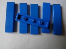 LEGO PART 2431 BLUE 1 x 4 TILE SMOOTH x 6