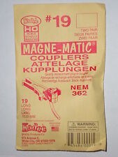 Kadee HO #19 couplers : NEM 362 Long Coupler two pair