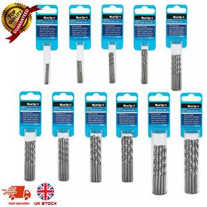 BlueSpot HSS Metric Drill Bits set of 10 Pack 1 to 4.8mm for Steel Wood plastics