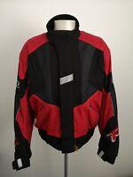 Mens Frank Thomas Aqua Red Motorcycle Jacket - Size XL