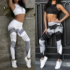 Athletic Womens High Waist Elastic Leggings Mention Hip Pants Yoga Fitness Pants