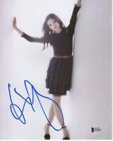 INDIA EISLEY SIGNED PHOTO 8X10 I AM THE NIGHT AUTOGRAPH FEET LEGS BAS COA