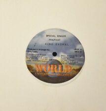 """12"""" REGGAE King Everal Firehouse Crew World Enterprise 77 Special Singer"""
