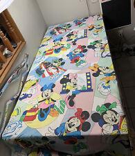 Vintage Walt Disney Minnie Mouse Twin Flat Bed Sheet Bedding Blanket Beach 90x79