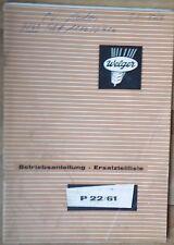 Welger Ballenschleuder P22 / 61 Anleitung + Ersatzteilliste