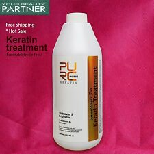 PURE Brazilian Keratin Treatment Formaldehyde Free Repair Damaged Hair 1000ml