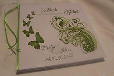 Hardcover Gästebuch zur Hochzeit , apfelgrün grün