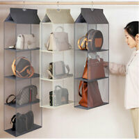 Bag Storage Holder Wardrobe Closet 1x Hanging Handbag Organizer 3 Pockets Shelfs