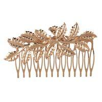 Fashion Punk Women Girls Gold Leaf Hair Comb Hair Clip Jewelry Cuddly, Gold U1H4