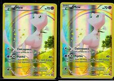 2 X Mew Mythical Collection FULL ART Promo XY110 GENERATIONS Pokemon