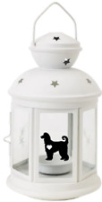More details for afghan hound lantern gift dog indoor/outdoor personalised white christmas
