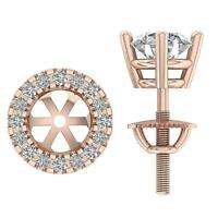 Natural Diamond SI1 G 0.30Ct Removable Jacket 1.00Ct Stud Earring 14K Solid Gold