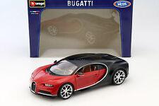 Bugatti Chiron année modèle 2016 rouge/noir 1:18 Bburago