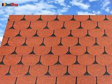 Dachschindeln 2m? Biberschindeln Ziegelrot (14 Stk) Schindeln Dachpappe Bitumen