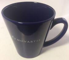 Novartis Pharmaceuticals Blue Ceramic Coffee Mug / Tea Cup - Very Good RARE