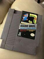 Mario Bros. Arcade Classic Series NES Game Authentic Genuine Cartridge