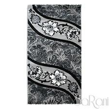 Contemporary Rug Artemis Floral Noir Various Dimensions Living Room