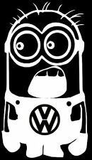 Stickers Carrosserie Minion Volkswagen VW Colorie Blanc