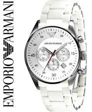EMPORIO ARMANI AR5859 MENS WHITE CHRONOGRAPH WATCH | QUARTZ - BNIB WITH TAGS