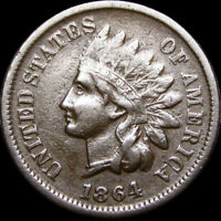 1864-L Initial L Indian Head Cent Penny ---- NICE ---- #C934