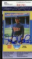 Frank Viola 1988 Fleer Jsa Coa Hand Signed Twins Authentic Autographed Twins